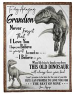 Pappy Gift For Grandson T Rex The Rest Of Mine Fleece Blanket