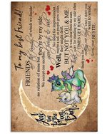 Unicorn Gift For Best Friend Love You To The Moon And Back Vertical Poster