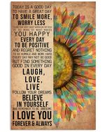 Autism Sunflower Follow Your Dream Gift For Autism Mom Vertical Poster