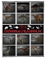 I'm A Dinosaurholic Gift For Dino Lovers Fleece Blanket
