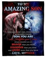 Wolf Versus Lion Straighten Your Crown Mother Gift For Son Fleece Blanket