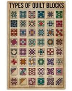 Meaningful Gift The Useful Knowledge Of Types Of Quilt Block Vertical Poster