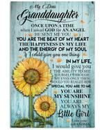 Grandma Gift For Granddaughter Sunflower Always Be Little Girl Vertical Poster