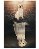 Labrador Reflection In Water Believe In Yourself Gift For Dog Lovers Vertical Poster