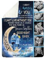 Good Night Baby The Old On Waning Moon Gift For Wife Sherpa Fleece Blanket