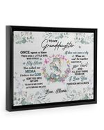 Mema Gift For Granddaughter Elephant I'll Stay There Framed Matte Canvas