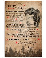 Enjoy The Ride T Rex Mom Gift For Son Vertical Poster