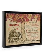 Never Forget I Love You Autumn Tree Custom Name Gift For Wife Framed Matte Canvas