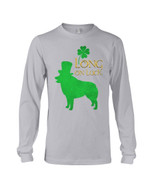 Schipperke Long On Luck Green St. Patrick's Day Printed Unisex Long Sleeve