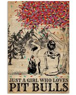 Dictionary Girl Who Loves Pit Bull Meaningful Gift Vertical Poster