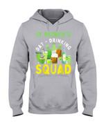 Happy St. Patrick's Day Drinking Squad 2021 Irish Shamrock Hoodie