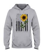 Sunflower Yellow Usa Flag Black Stripes Hoodie