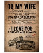 Silver Rings Love You Always Gift For Wife Vertical Poster