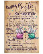 Thank For Being My Inspiration Unicorn Gift For Bestie Vertical Poster