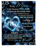 Turtle Daughter Gift For Mom I Will Always Be Your Little Girl Fleece Blanket