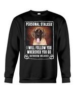 English Mastiff Personal Stalker St. Patrick's Day Printed Sweatshirt
