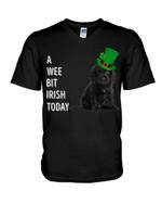 Black Cocker Spaniel Irish Today Green St. Patrick's Day Guys V-neck