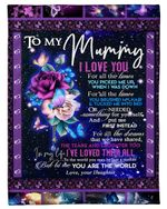 Daughter Gift For Mummy Rose I Love You Fleece Blanket