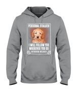 Apricot Labradoodle Personal Stalker St. Patrick's Day Printed Hoodie