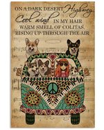 Music Sheet Cool Wind Corgi Gift For Dog Lovers Vertical Poster