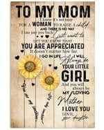 Always Be My Loving Mother Sunflower Daughter Gift For Mom Vertical Poster