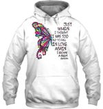 Butterfly Gift For Grandma I Became A Great Grandma Hoodie