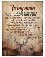 Deer Son Gift For Mom I Will Always Be Your Little Boy Fleece Blanket
