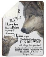 Aunt Gift For Niece Wolf This Old Wolf Will Always Have Your Back Sherpa Fleece Blanket