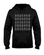Ukulele Chords Black And White Special Gift For Ukulele Players Hoodie