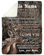 Wild Deer Your Last Everything Custom Name Gift For Husband Sherpa Blanket