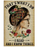 That's What I Do Reading I Read And I Know Things Vertical Poster