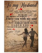 Play On The Beach Love You To The Moon Gift For Husband Vertical Poster