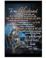 Gift For Husband You Are The Love Of My Life Wolf Vertical Poster