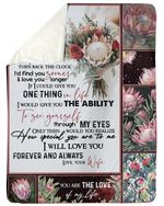Bouquet Of Protea Love You Longer Gift For Husband Sherpa Fleece Blanket