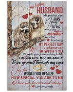 Owl Couple Whenever I'm With You Gift For Husband Vertical Poster