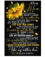 I'm Beautiful And Strong Daughter Gift For Mom Vertical Poster