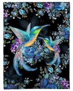 I Love Hummingbirds Flowers Meaningful Gift Fleece Blanket