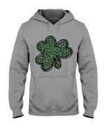Happy St Patrick's Day Shamrock Pattern Hoodie