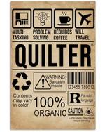 Vintage Design Somethin You Should Know About Multitasking Quilter Vertical Poster
