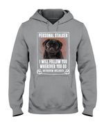 Pug Puppy Will Follow You St. Patrick's Day Printed Hoodie