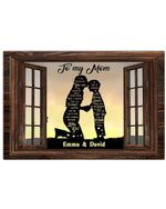 Son Gift For Mom I Am Because You Are Custom Name Horizontal Poster