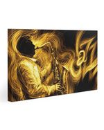 Gift For Saxophone Players Man With Yellow Saxophone Matte Canvas
