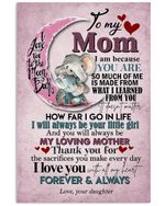 Elephant Pink Moon My Loving Mother Daughter Gift For Mom Vertical Poster