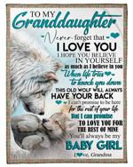 The Rest Of Mine Wolves Grandma Gift For Granddaughter Fleece Blanket