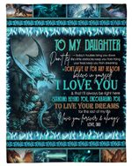 Dad Gift For Daughter Fire-breathing Dragon I Love You Fleece Blanket