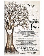 Gift For Precious Son Love You For The Rest Of Mine Vertical Poster