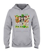 Leprechaun Cows And Pot Of Gold St Patrick's Day Gift Hoodie