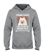 White Pomeranian Will Follow You St. Patrick's Day Printed Hoodie