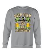 Keep Calm Social Worker Shamrock St. Patrick's Day Printed Sweatshirt