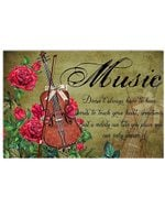 Cello In Red Rose Garden Music In My Life Horizontal Poster